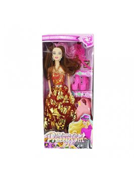 Muñeca Fashion Beauty Emilia Con Accesorios Moda - Multicolor