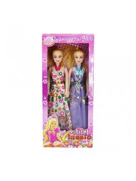 Duo de Muneca Fashion Moda en Plastico - Multicolor