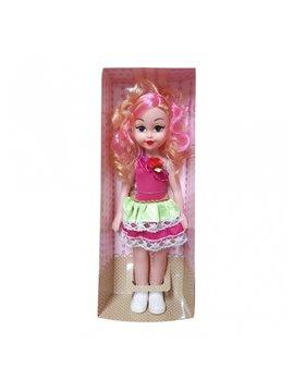Muñeca Fashion Pelo Rosa en Plastico - Multicolor