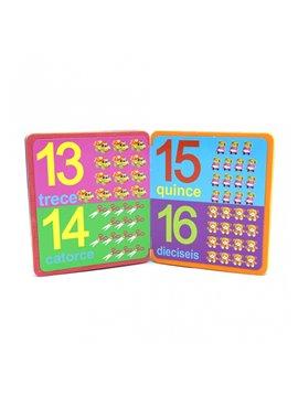 Libro Didatico en Foami Numerico - Multicolor