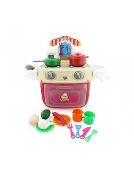 Juego De Cocina Horno Y Accesorios En Plastico - Multicolor