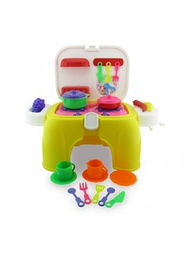 Juego De Cocina Integral Con Accesorios Plastico - Multicolor