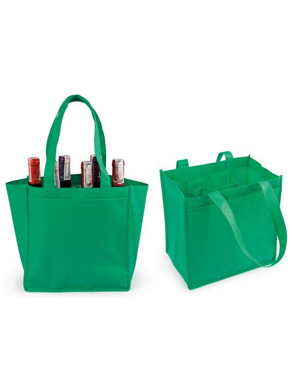 Bolsa de Regalo Kambrel para 6 botellas de Vino - Verde