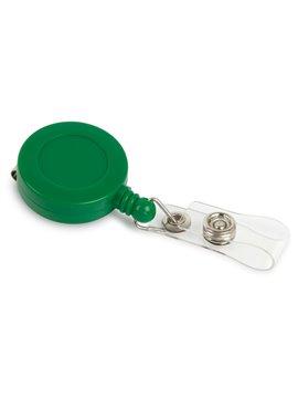 Portacarne Identificador Redondo Line Retractil - Verde Solido