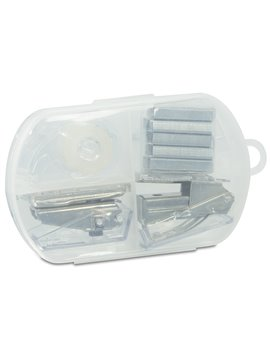Kit de Oficina perforadora cinta cosedora ganchos - Blanco