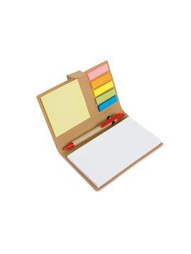Libreta con Boligrafo y notas adhesivas - Rojo