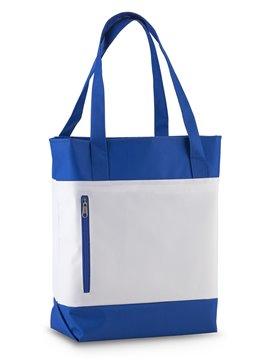 Bolso Tula Elaborado en Poliester 600 D Mindy con Bolsillo - Azul