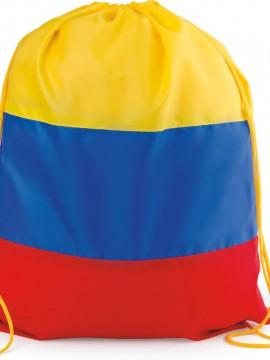 Bolso Mochila Maletin Colombia Con Cordon para ajustar - Tricolor