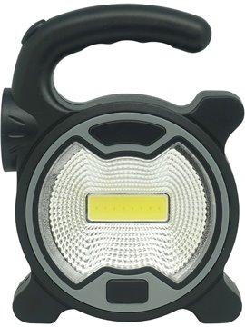 Linterna 8 luces Hand Light Con Manija Plastico - Negro