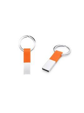 Llavero Memoria USB Ring Con Argolla - Naranja