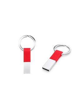 Llavero Memoria USB Ring Con Argolla - Rojo