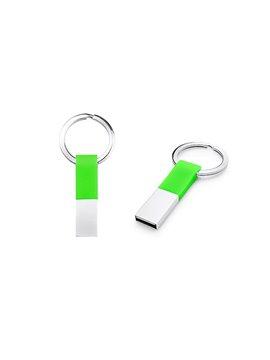 Llavero Memoria USB Ring Con Argolla - Verde