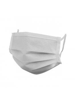 Tapabocas Dos Capas Cocido En Kambrel - Blanco