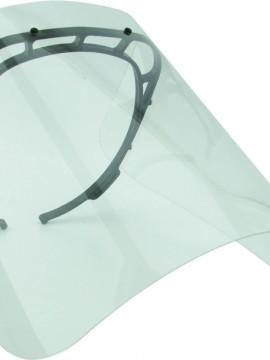 Careta Facial de Proteccion con Diadema en PET - Negro