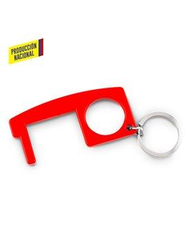 Llavero Plastico Multiusos Anticontacto Resistente - Rojo
