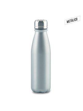 Botella Botilito Metalico Hans en Aluminio 600 ml - Silver