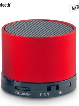 Parlante Altavoz Metalico Speaker Bluetooth Artix - Rojo