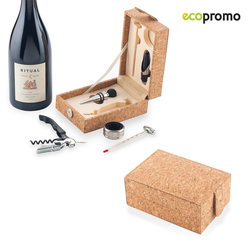 Set De Vino 5 Accesorios Elaborado en Corcho - Corcho
