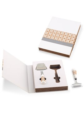 Set De 2 Utensilios Para Queso en Forma de Book - Cafe