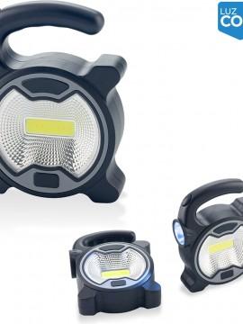 Linterna con Manija Cob Power Elaborado en Plastico - Blanco