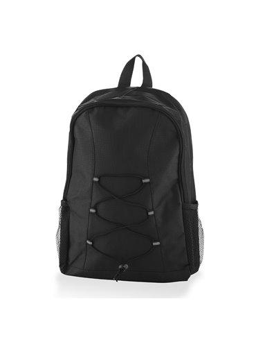 Morral Maleta Backpack Strings en Poliester - Negro