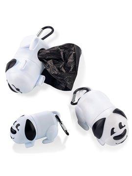 Dispensador De Bolsas para Mascota Dog con Carabinero - Blanco