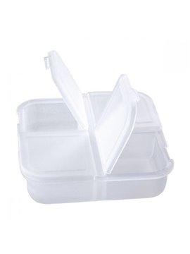 Pastillero Plastico Sao de 4 Compartimientos - Blanco Frosty