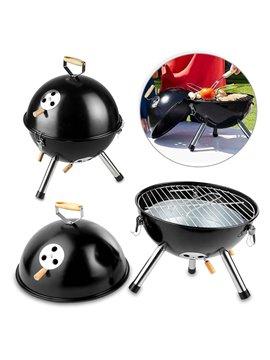 Asador BBQ Grill Cook Metalico con Tapa - Negro