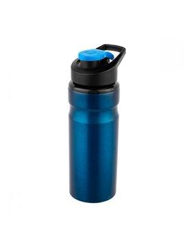 Termo Botella Metalico Cilindro Nuarang - Azul