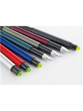 Set de Esferos Boligrafos Eros Clip Metalico Negro y Estuche