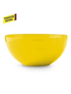 Bowl Taza En Plastico Liso - Amarillo