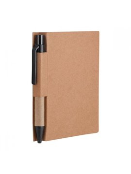 Libreta Cuaderno Slovian Ecologico con Boligrafo - Negro
