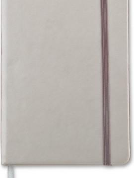 Mini Libreta Cuaderno Crown en Poliuretano - Silver