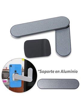 Soporte Magnetico Para Moviles Aluminio - Plateado