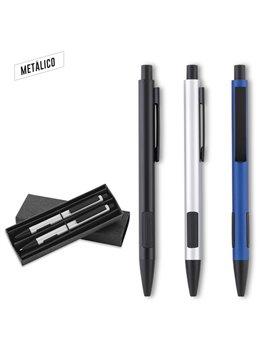 Set Vapianno Incluye Boligrafo y Portaminas Metalico - Azul