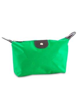 Cosmetiquera Neceser en Poliester con Cierre en Broche - Verde