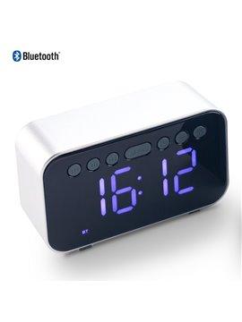 Speaker Parlante Bluetooth con Reloj Elaborada en Plastico - Silver