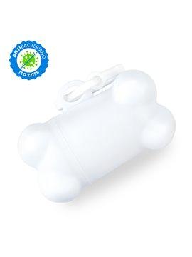 Dispensador de Bolsas Bone Material Antibacteriano - Blanco