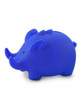 Alcancia Piggy con Portacelular en Plastico - Azul