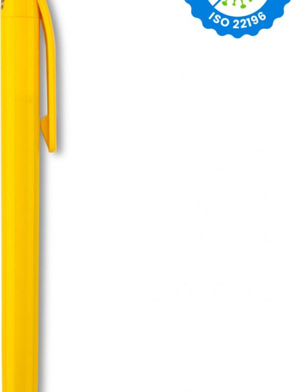 Esfero Boligrafo Vinnie Stylus Antibacteriano en Plastico - Amarillo