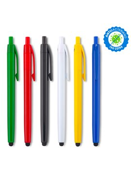 Esfero Boligrafo Vinnie Stylus Antibacteriano en Plastico - Azul