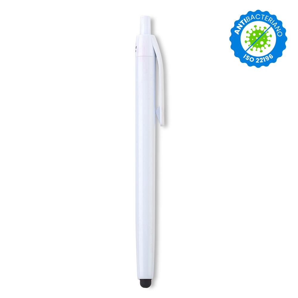 Esfero Boligrafo Vinnie Stylus Antibacteriano en Plastico - Blanco