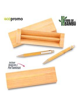 Set de Boligrafo y Portaminas Elaborado en Bamboo - Bamboo