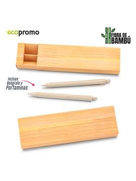 Set Boligrafo y Portaminas Dakota Eco Elaborado en Bambu - Bamboo