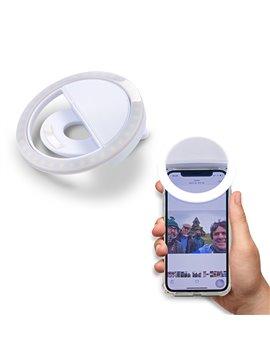 Mini Selfie Light para Moviles con Clip en Plastico - Blanco