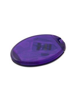 Minicosturero Oval con espejo hilos aguja gancho - Morado