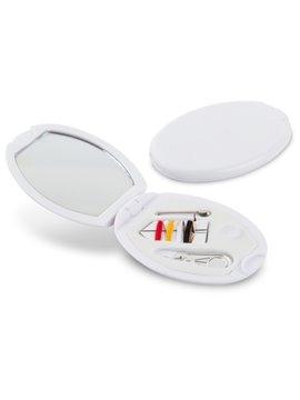 Minicosturero Oval con espejo hilos aguja gancho - Blanco