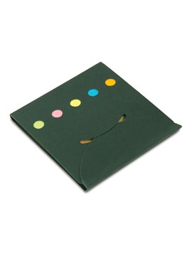 Libreta Ecologica Eco Sticky con Set de Notas Adhesivas - Verde